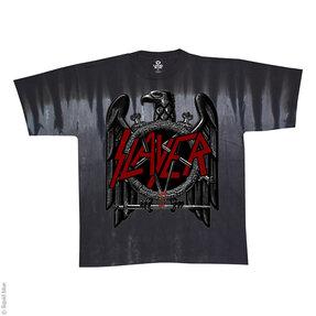 Šedé batikované hudobné tričko Slayer Eagle
