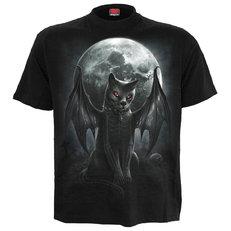Tricou negru Pisica vampir