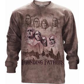 Tričko s dlouhým rukávem Otcové zakladatelé USA