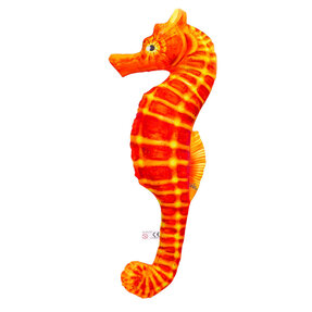 Polštář Mořský koník - oranžový 40 cm