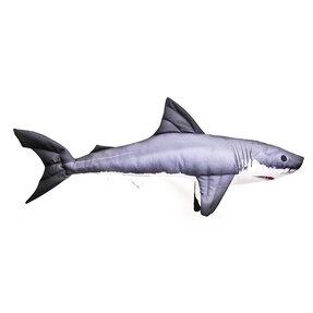 Vankúš Žralok modrý - 120 cm