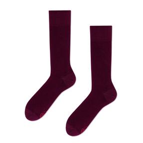 Veselé ponožky Burgundská červeň