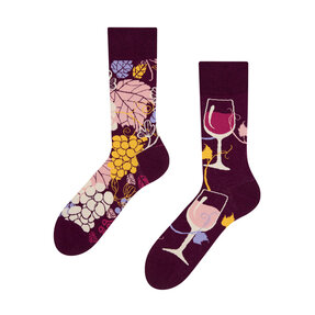 Good Mood Socks - Red Wine