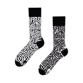 Veselé ponožky Černobílé bludiště