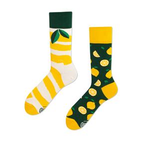 Lustige Socken Zitronen