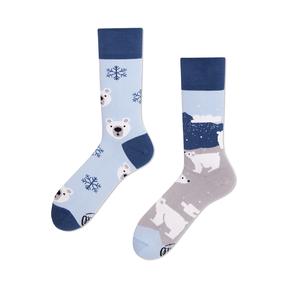 Veselé ponožky Medvěd bílý