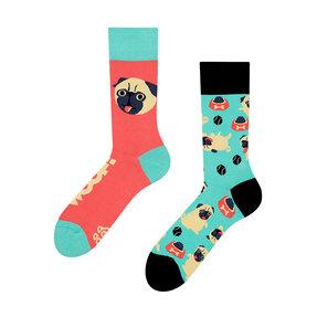 Lustige Socken Mops