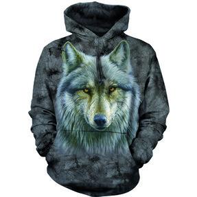 Sweatshirt mit Kapuze Verzauberter Wolf