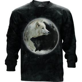Tricou cu mânecă lungă Ying Yang lupi
