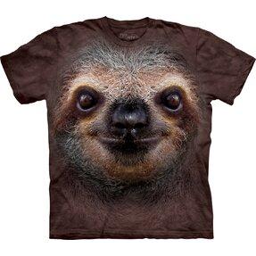 Kinder T-Shirt Faultier Gesicht