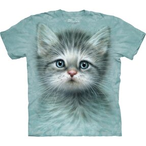Kinder T-Shirt Katze mit blauen Augen
