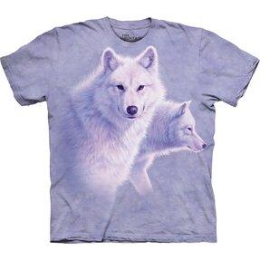 Graceful White Wolves Child