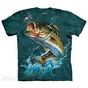 T-Shirt Fisch auf der Jagd