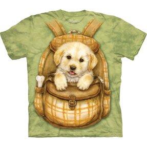 Kinder T-Shirt Welpe im Rucksack