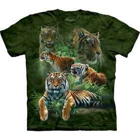 Kinder T-Shirt Tiger aus Dschungel