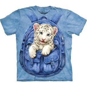 Kinder T-Shirt Tigerjunge im Sack