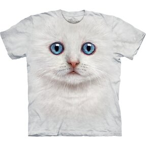 Kinder T-Shir Weißes Baby Kätzchen Gesicht t