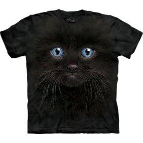 Tričko Obličej černého koťátka - dětské