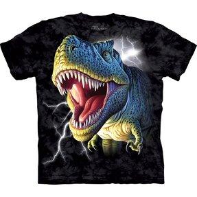 Kinder T-Shirt Tyrannosaurus Rex mit Blitzen