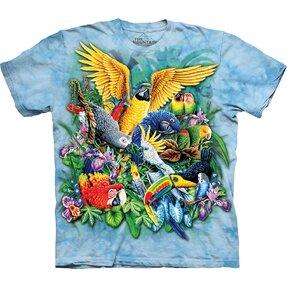 Kinder -T-Shirt Vögel der Tropen