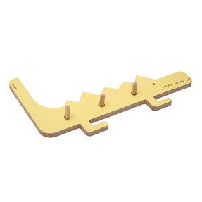 Vešiak krokodíl DINO - žltý
