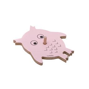 Vešiak sova VIKI - ružový