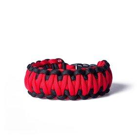 Survival náramek - červeno černý