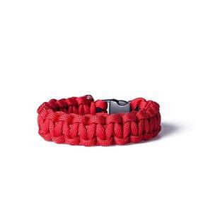Paracord survival náramek - červená
