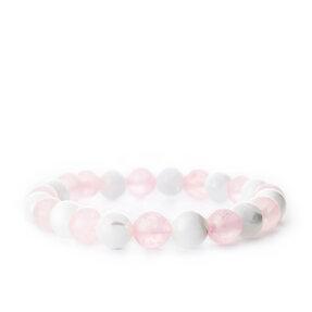 Armband Rosenquarz, Perlmutt - Steine der Liebe und des Schutzes