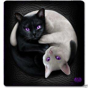 Deka s motívom Jin Jang mačky