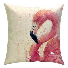 Oboustranný povlak na polštář Love me Flamingo