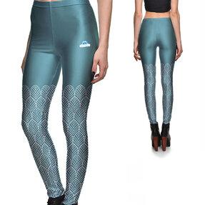 Női elasztikus leggings Kék erdő
