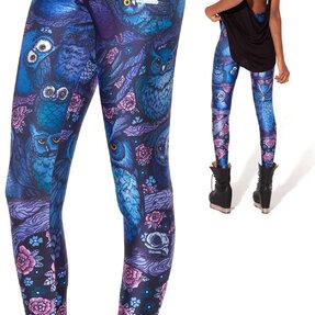 Női elasztikus leggings Éjszakai bagoly