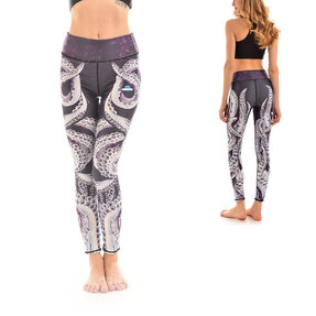 Ladies' Sport Elastic Leggings Octopus