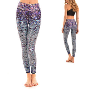 Ladies' Sport Elastic Leggings Mosaic