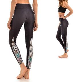 Női sportos elasztikus leggings Madár tollak