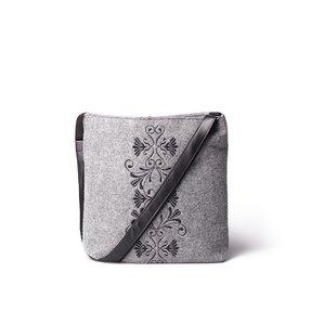 Messenger Handbag - Black Ornament Laura