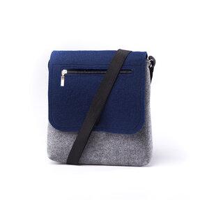 Kabelka Zip - Modro-šedá