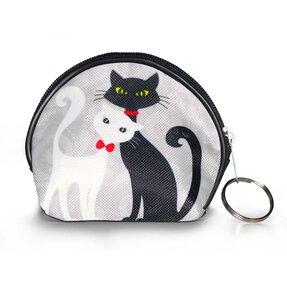Aprópénztárca - Fekete és fehér macska