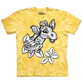Kids Colorwear T-shirt Giraffe - yellow
