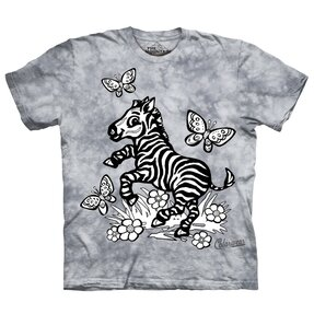 Kids Colorwear T-shirt Zebra - grey