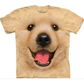 Tricou crem Pui de Golden  Retriever