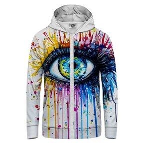 Sweatshirt mit Reißverschluss Farben im Auge