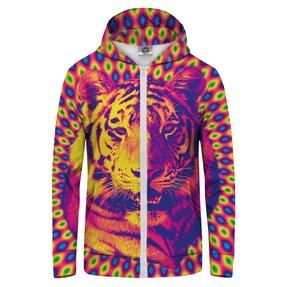 Mikina na zips Šialený tiger