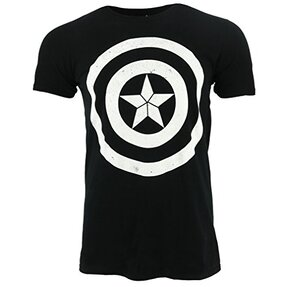 T-Shirt Marvel Comics Captain America Civil War Basic Shield Distressed