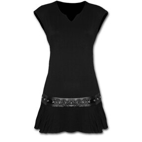 Mini Dress Black with Belt