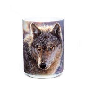 Originálny hrnček s motívom Dobrodružný vlk