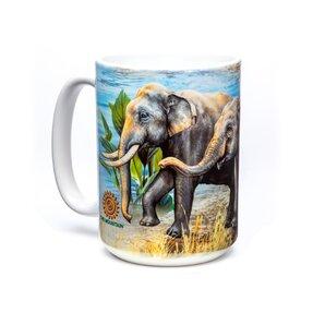Originální hrníček s motivem Sloni u vody