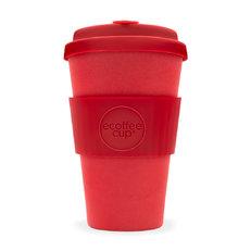 Bambusz ecoffee cup piros