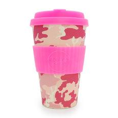 Bambusový ecoffee cup Ružový maskáč